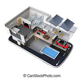 Smart house on a smartphone