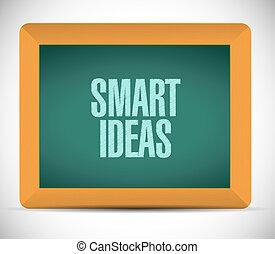 smart ideas board sign concept