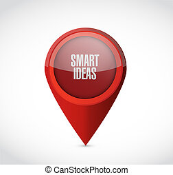 smart ideas pointer sign concept