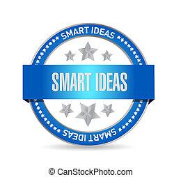 smart ideas seal sign concept