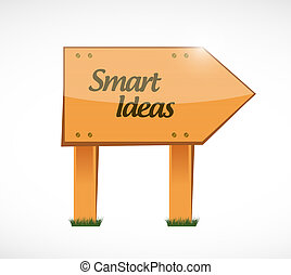 smart ideas wood sign concept