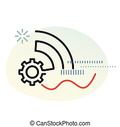 Smart Industry Solution Icon