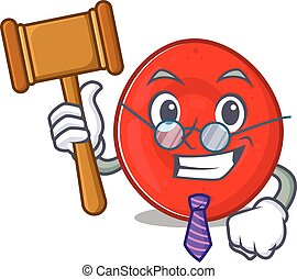 Smart Judge erythrocyte cell in mascot cartoon character ...