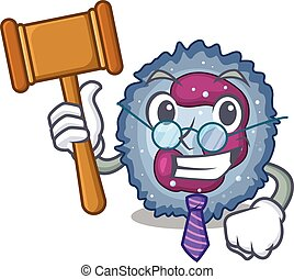 Smart Judge neutrophil cell in mascot cartoon character ...