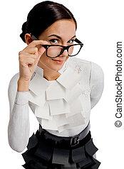 Smart lady - Portrait of flirtatious businesswoman in...