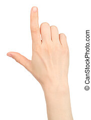 smart, lik, gest, hand, kvinna, avskärma, ringa
