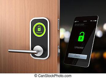Smart lock concept. original design.