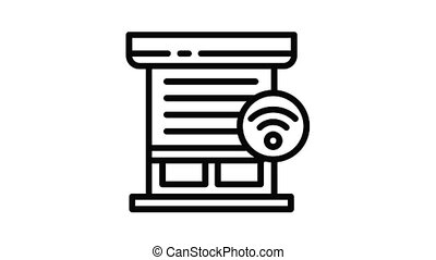 Smart louver icon animation outline best object on white background