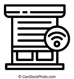 Smart louver icon, outline style