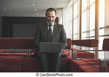 Smart male using modern technologies