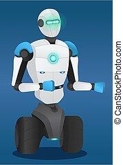 Smart Metal Machine Robotic Technology Vector