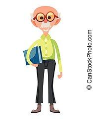 Smart old man illustration