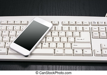 Smart phone and keyboard