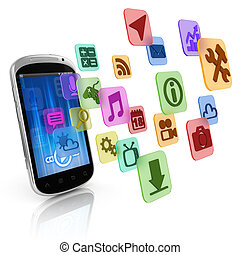 smart phone application icons