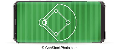 Smart phone baseball field