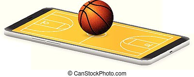 Smart phone basketball