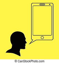 Smart Phone Bubble Text