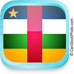 Smart phone button with Central Africa flag