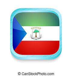 Smart phone button with Equatorial Guinea flag
