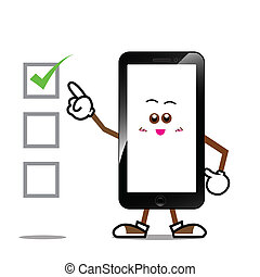Smart phone cartoon 002