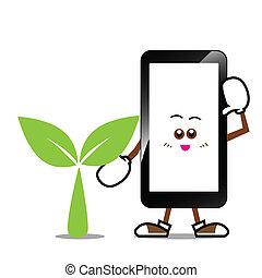 Smart phone cartoon 010