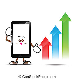 Smart phone cartoon 015