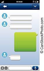 Smart phone chat bubbles