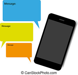 Smart phone chat vector