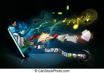 Photo of smart phone with various applications