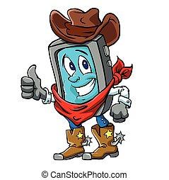 Smart phone cowboy