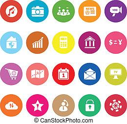 Smart phone flat icons on white background
