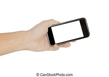 smart phone hand