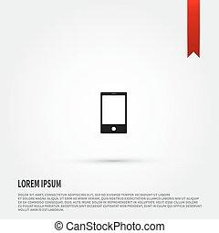 Smart phone icon. Flat design style. Templat