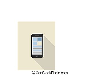 smart phone illustration. mobile phone vector graphic