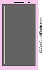Smart phone, illustration, vector on white background.