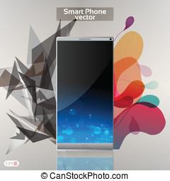 Smart Phone Infographic  - Vector