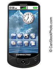 Isolated illustration of an original smart cellphone