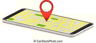 Smart phone map