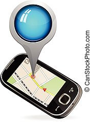 Smart phone maps navigation