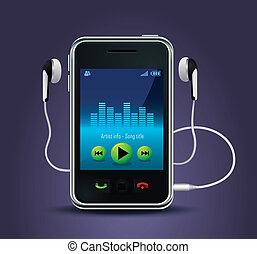smart phone music player