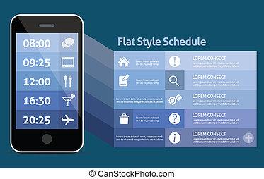 Smart phone personal schedule