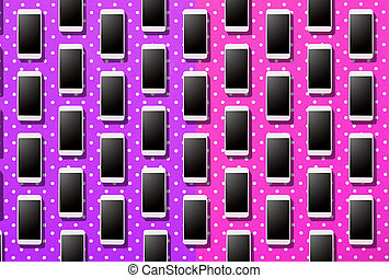 Smart phone photography with  colored background