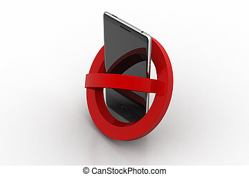 Smart phone prohibition concept