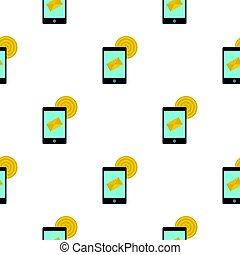 Smart phone sending email pattern flat
