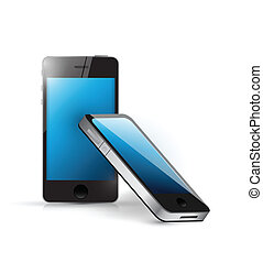 smart phone set illustration design