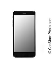 Smart Phone - Smart phone with blank screen on white ...