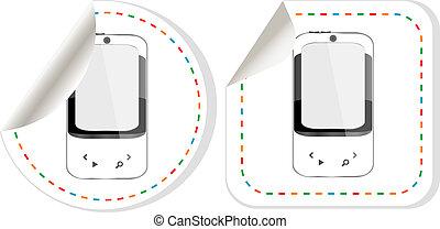 smart phone stickers label set