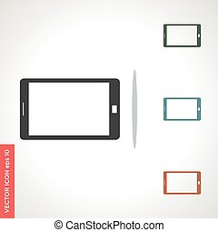 smart phone vector icon isolated on white background