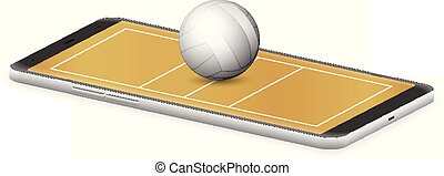 Smart phone volleyball