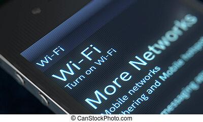 Smart phone Wi-Fi Icon Image